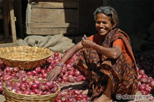 Past Life Regression Woman In India Selling Red Onions